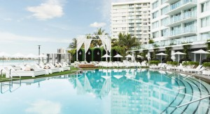 The pool at the Mondrian Hotel in South Beach