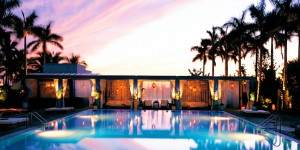 The pool at the Shore Club Hotel in Miami Beach
