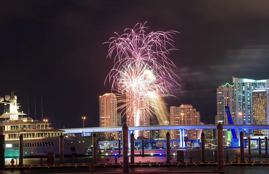 4th of july Fireworks in Miami